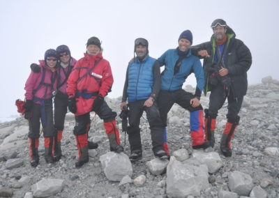 Day 24, 20:57, first land at 112 masl , celebrating the crossing