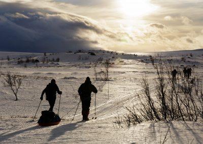 Wintertrekking in Espedalen, Norway